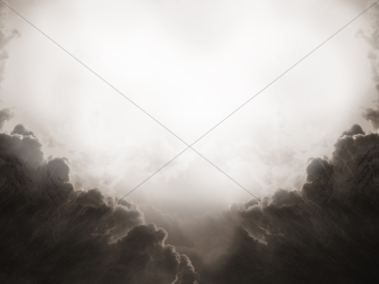 Black And White Clouds Of Heaven Background
