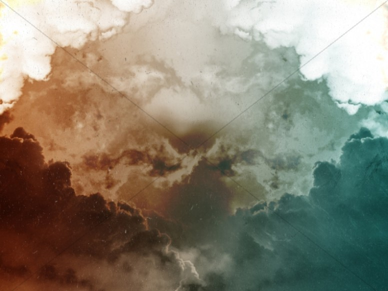 Cloud Paint Splash Worship Background
