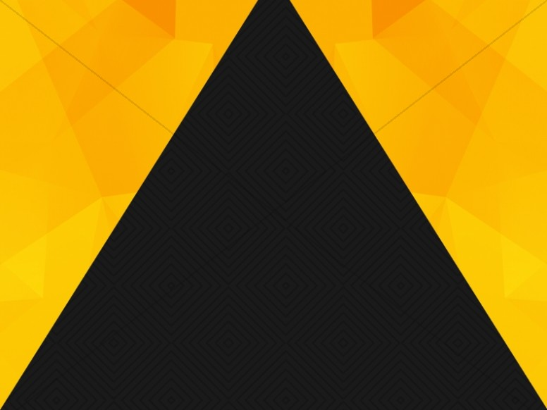 Black And Gold Triangle Worship Background