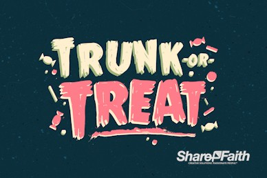 Trunk Or Treat Harvest Festival Motion Graphic
