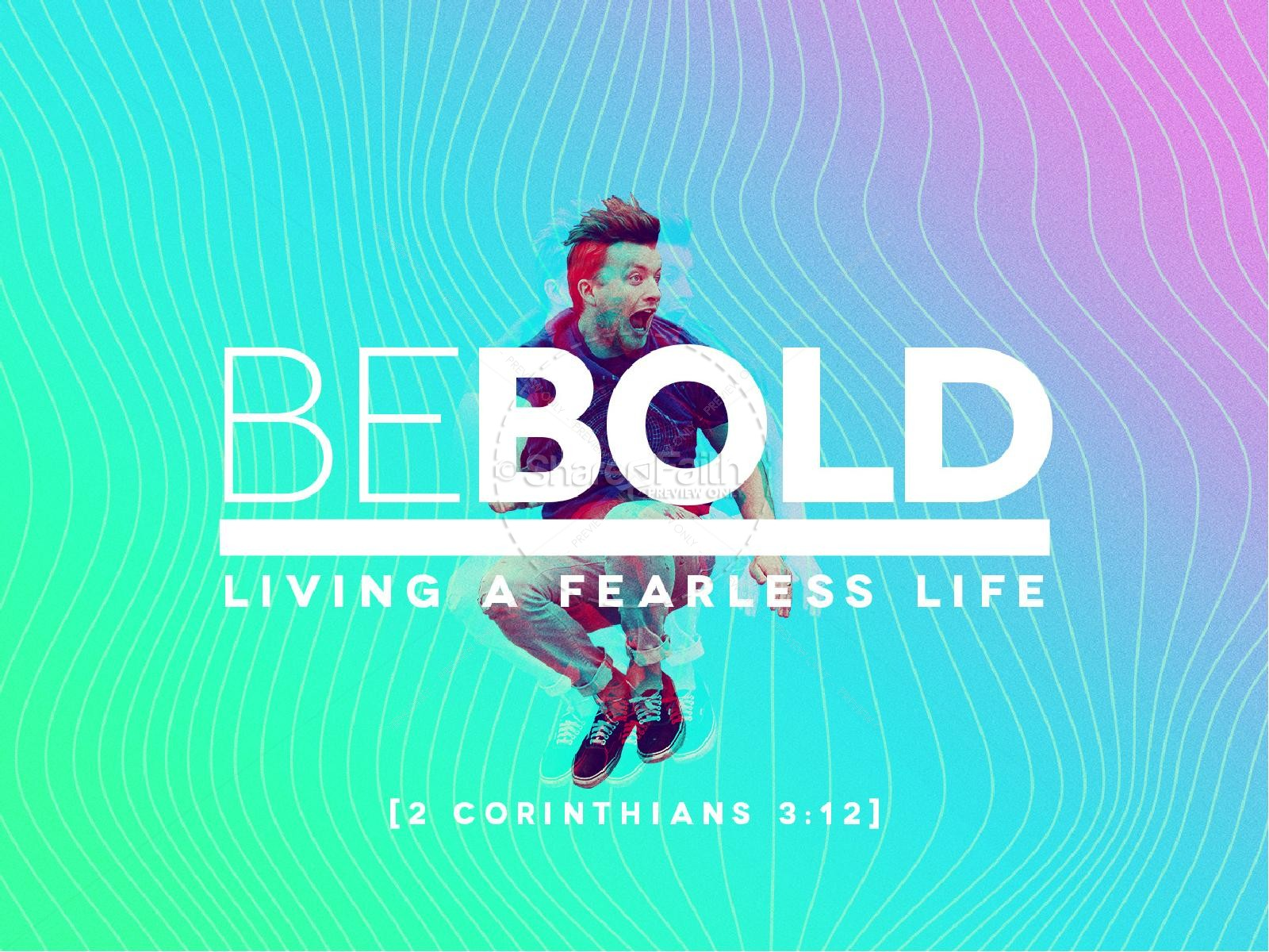 Be Bold Sermon Graphic Design