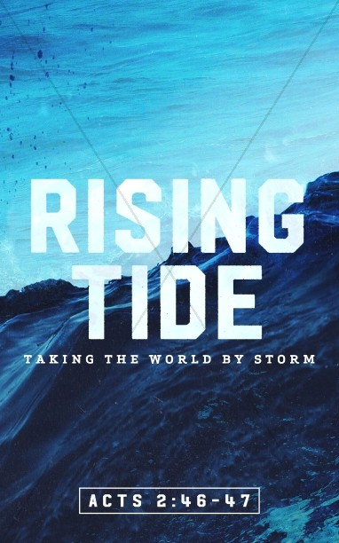 Rising Tide Church Bulletin Cover
