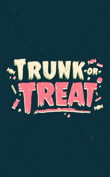 Trunk Or Treat Harvest Festival Bulletin Cover