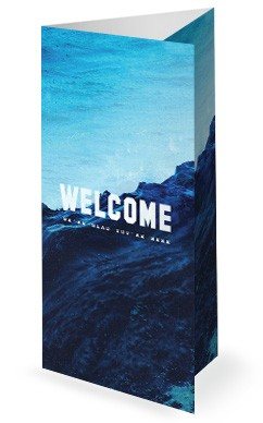 Rising Tide Church Trifold Bulletin Cover