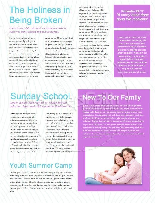 Be Bold Church Newsletter Template