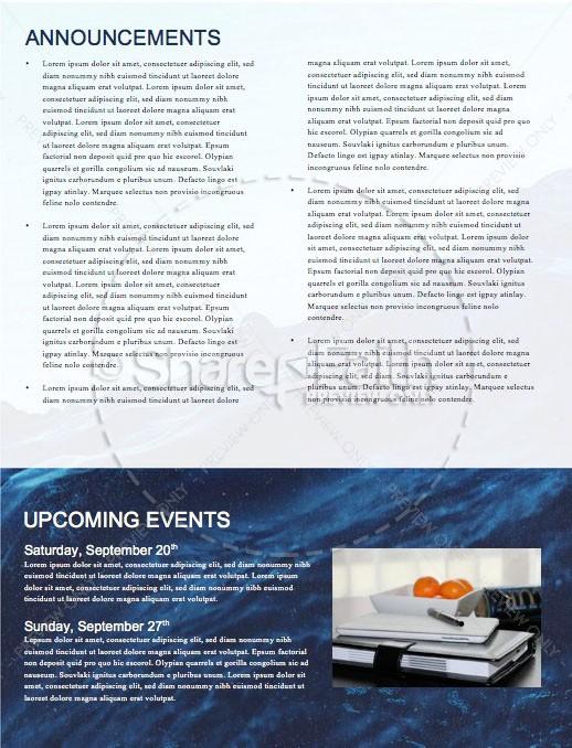 Rising Tide Church Newsletter Template