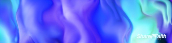 Blue Neon Paint Abstract Triple Wide Background Video