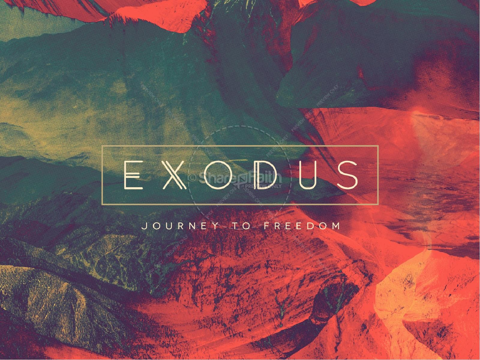 Exodus Sermon PowerPoint Template | slide 1