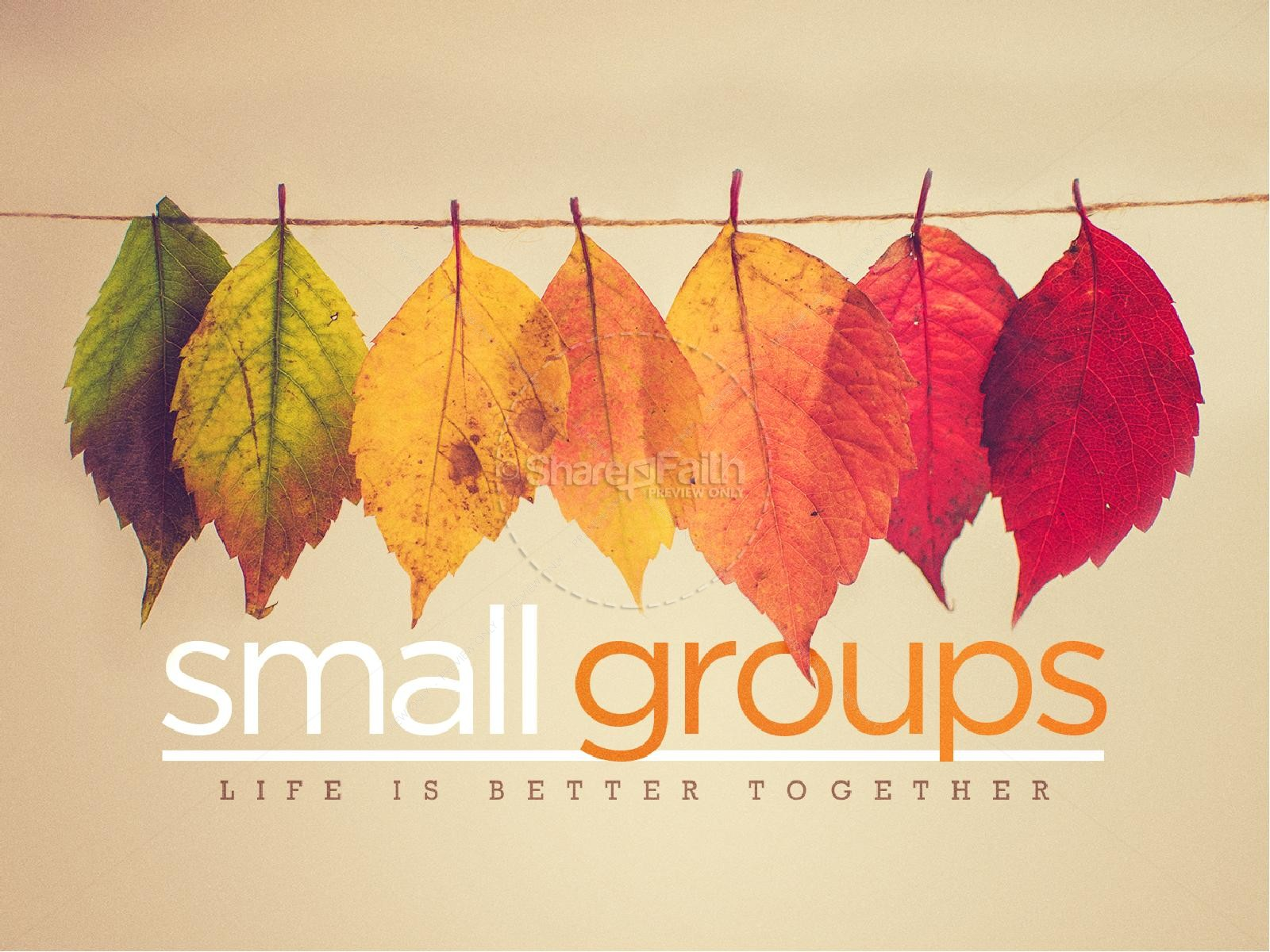 Small Groups Church PowerPoint | slide 1