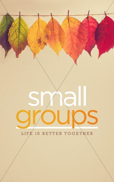 Small Groups Church Bulletin Cover