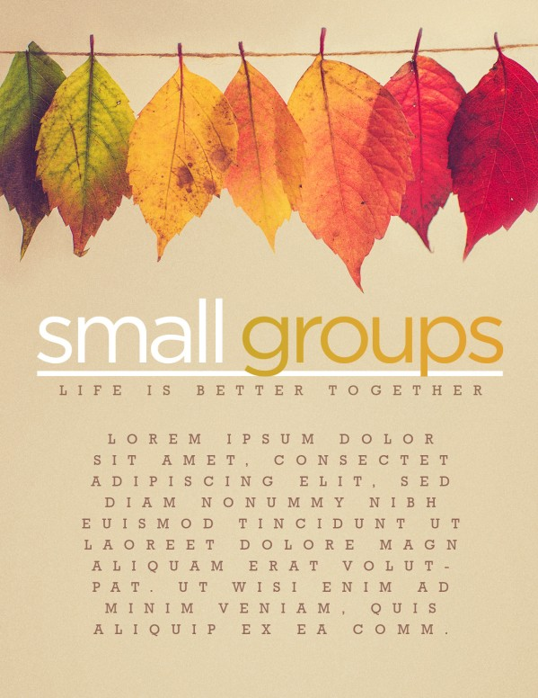 Small Groups Church Flyer Template