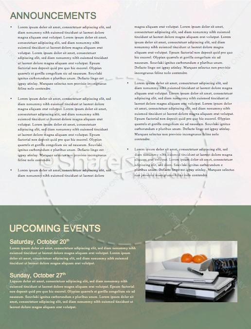 Exodus Church Newsletter Template