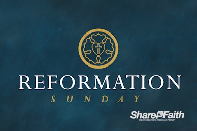 Martin Luther Reformation Day Service Motion Graphic