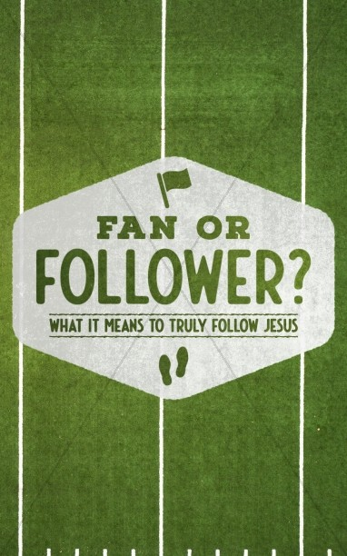 Fan or Follower of Jesus Bulletin Cover Template