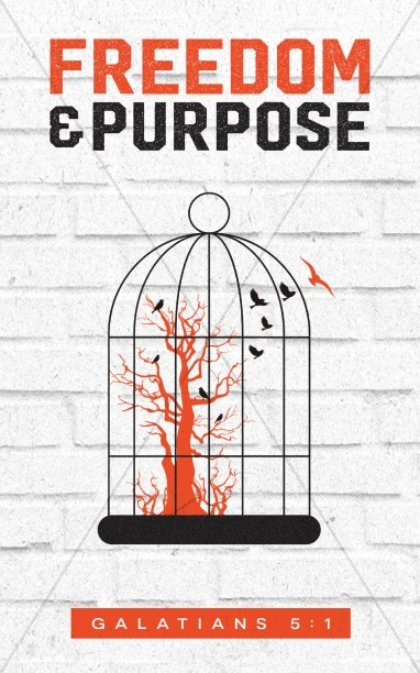 Freedom and Purpose Church Bulletin Cover
