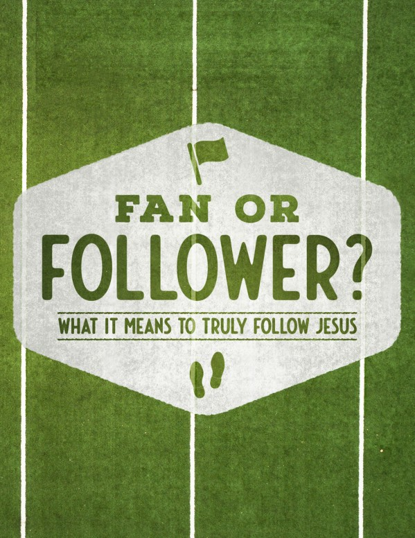 Fan or Follower of Jesus Flyer Template