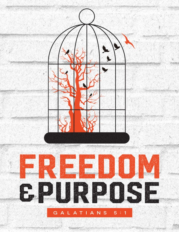 Freedom and Purpose Church Flyer Template