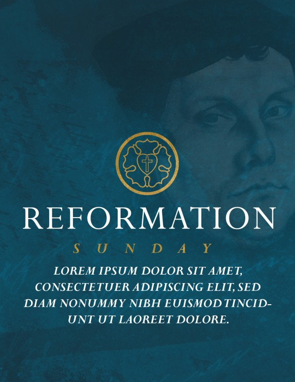 Martin Luther Reformation Day Flyer Template