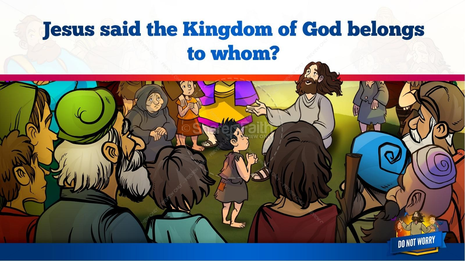 Matthew 6 Do Not Worry Kids Bible Story