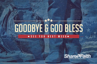 Veterans Day Goodbye Motion Graphic