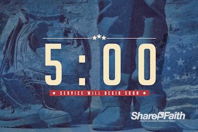 Veterans Day Church Countdown Timer