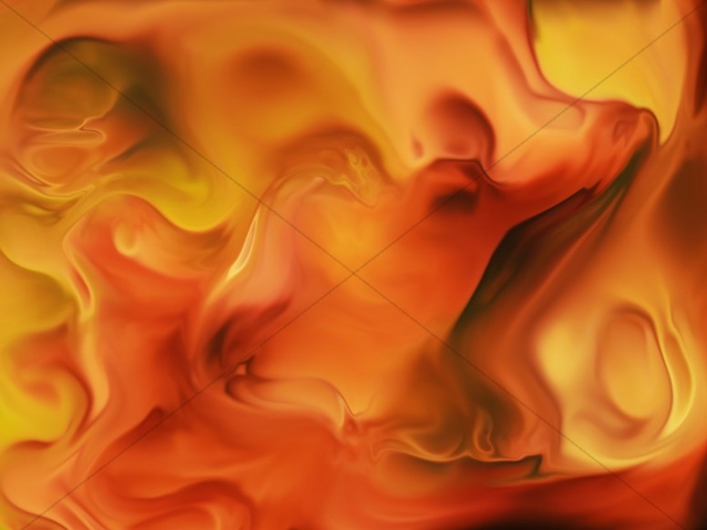 Orange Paint Swirl Abstract Worship Background