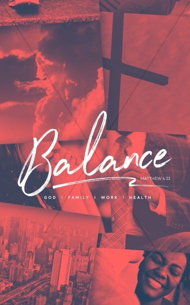 Balance In Life Church Bulletin Template