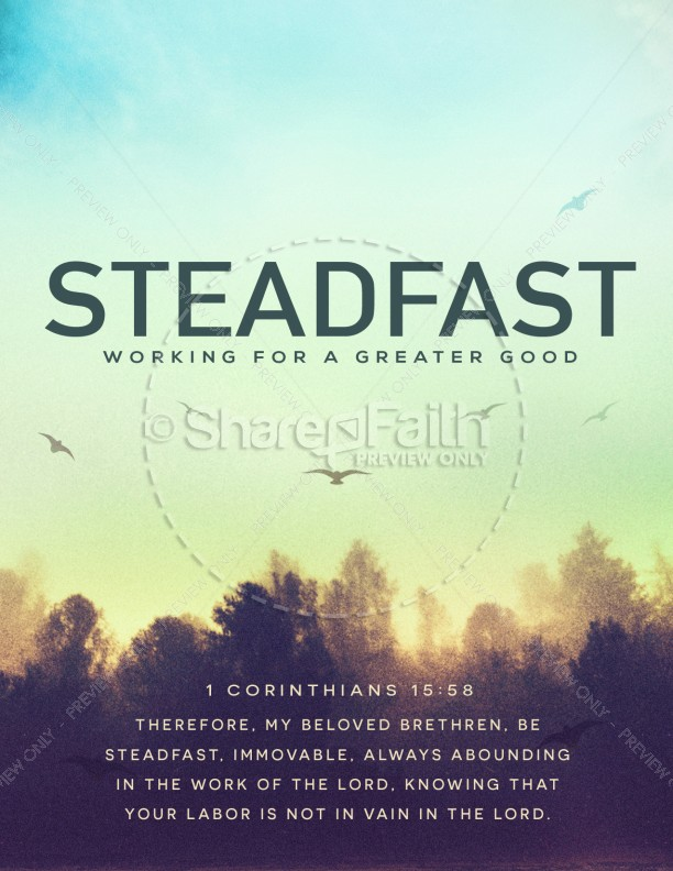 Steadfast Love of the Lord Church Flyer Template