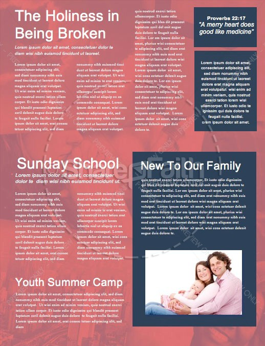 Balance In Life Church Newsletter Template