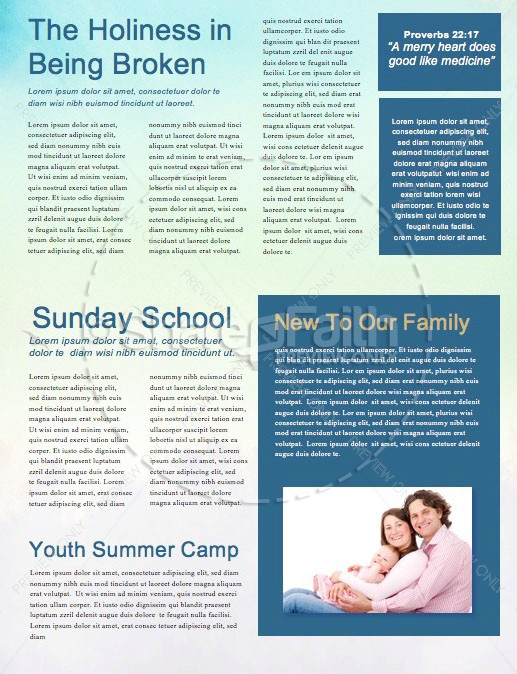 Steadfast Love of the Lord Newsletter Template