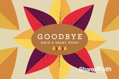 Give Thanks Goodbye Church Motion Graphic