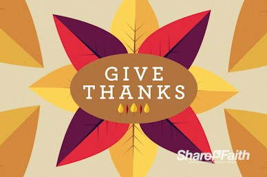 Give Thanks Message Church Motion Graphic