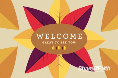 Give Thanks Welcome Church Motion Graphic