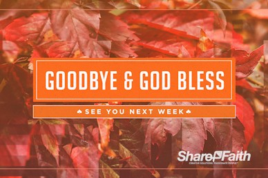 Thankful to God Goodbye Motion Graphic