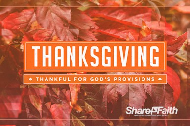 Thankful to God Thanksgiving Motion Graphic
