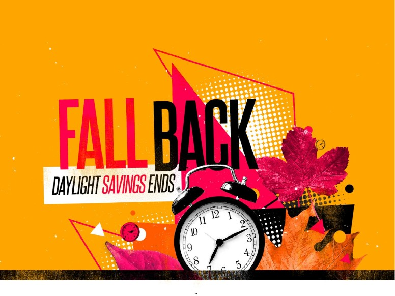Daylight Savings Time Fall Back Announcement Graphic
