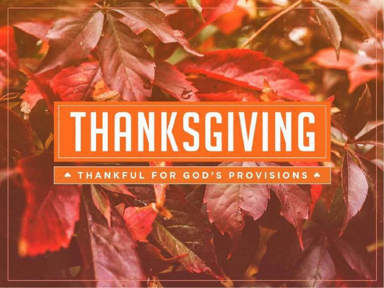 Thankful to God Thanksgiving PowerPoint