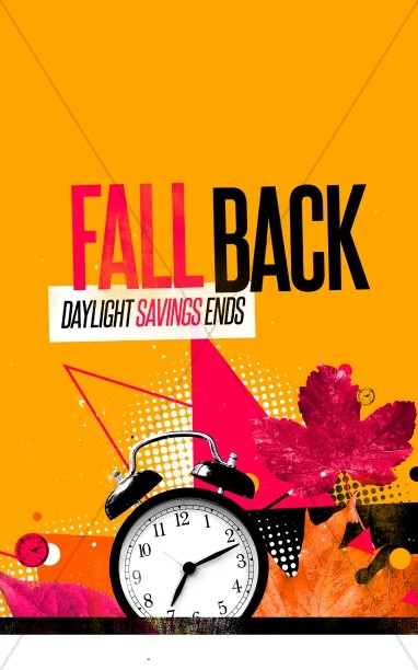 Daylight Savings Time Fall Back Bulletin Template