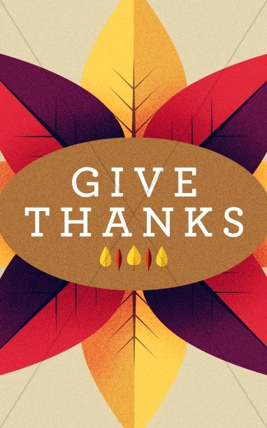 Give Thanks Message Church Bulletin Template
