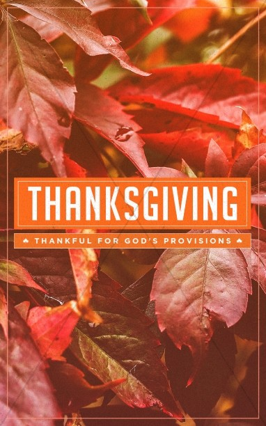 Thankful to God Thanksgiving Bulletin Template