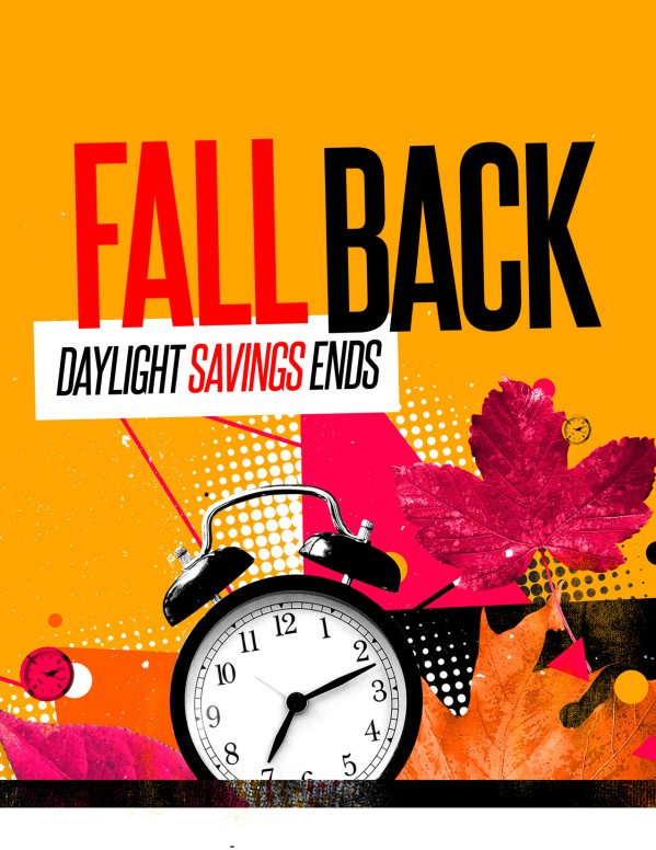 Daylight Savings Time Fall Back Flyer Template