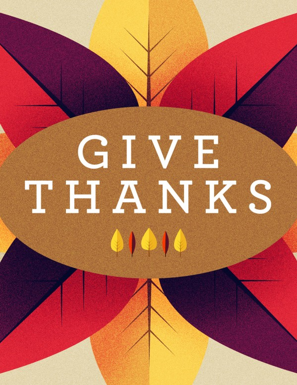 Give Thanks Message Church Flyer Template