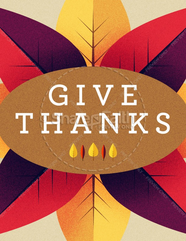 Give Thanks Message Church Flyer Template Template | Flyer Templates