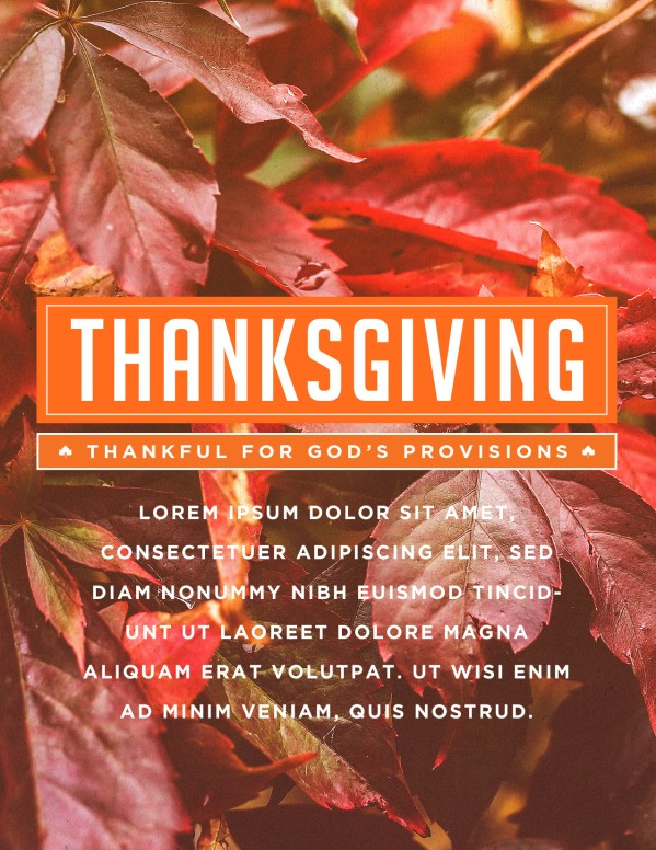 Thankful to God Thanksgiving Flyer Template