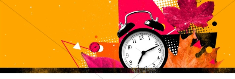 Daylight Savings Time Fall Back Website Banner
