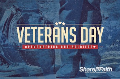 Veterans Day Church Motion Graphic