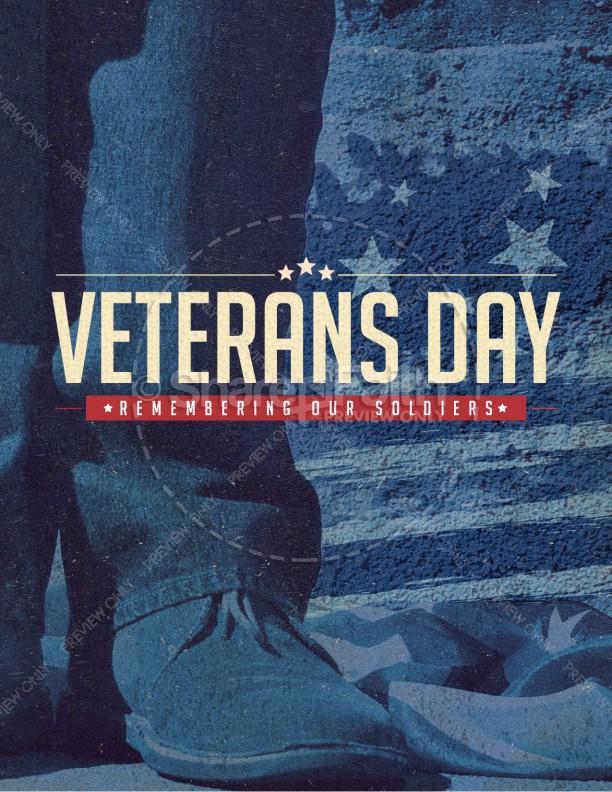 Veterans Day Church Flyer Template