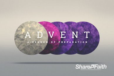 Advent Season of Preparation Church Motion Graphic