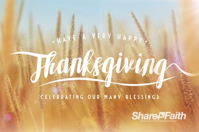 Thanksgiving Harvest Church Motion Graphic