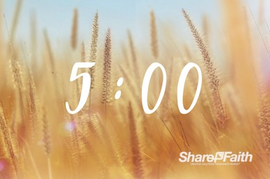 Thanksgiving Harvest Worship Countdown Video